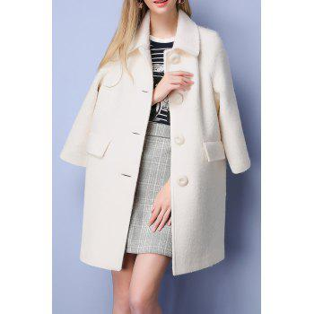 Woolen Button Up Coat