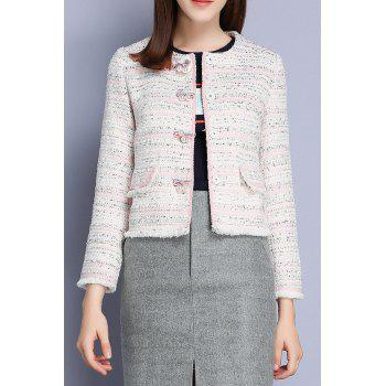 Woolen Tweed Coat