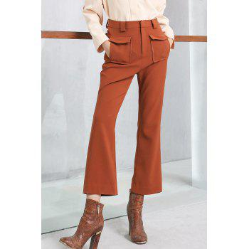 Bell Bottom High Waist Ankle Pants