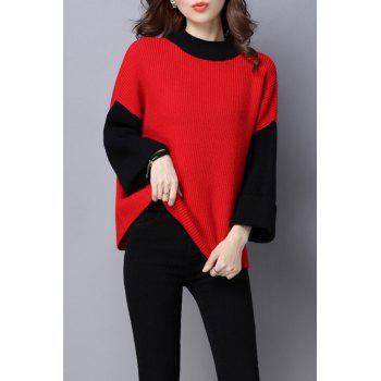 Batwing Color Block Sweater