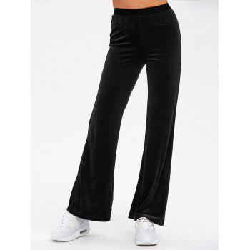 Cosy Velvet Boot Cut Pants