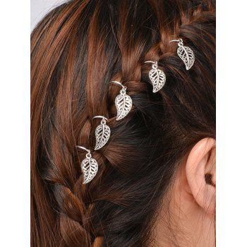 5 PCS Leaves Hair Accessory - SILVER SILVER