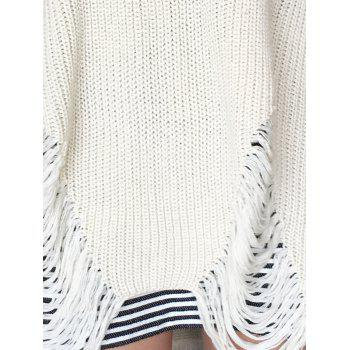 Loose Ripped High Low Sweater - XL XL
