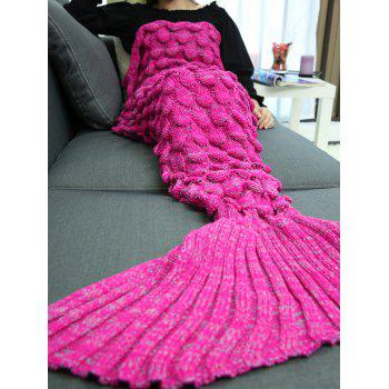 Soft Knitting Fish Scales Design Mermaid Tail Style Blanket - TUTTI FRUTTI