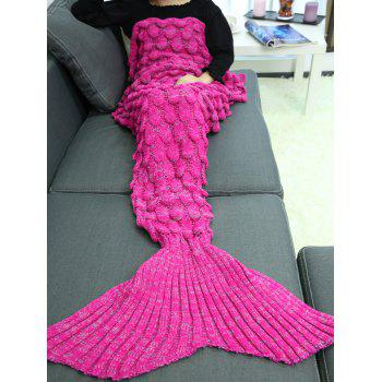 Soft Knitting Fish Scales Design Mermaid Tail Style Blanket