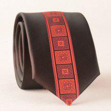 Geometry Plaid Skinny Polyester Neck Tie