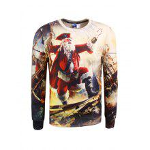 Crew Neck 3D Pirate Print Christmas Sweatshirt
