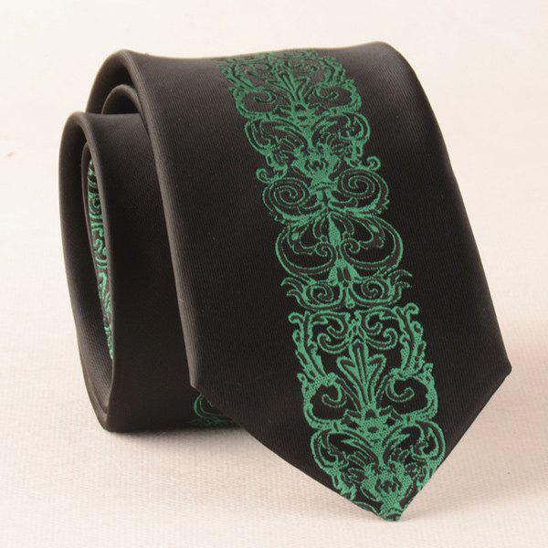 Wedding Formal Floral Polyester Neck Tie - BLACK