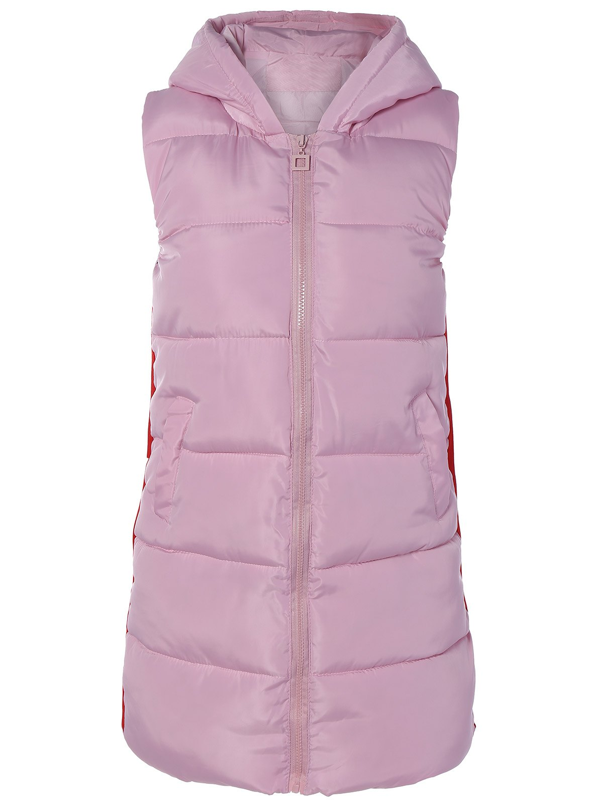 2018 Winter Pom Ball Hooded Down Vest PINK XL In Waistcoats & Vests ...