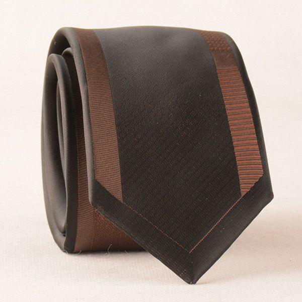Bridegroom Fomal Polyester Neck Tie - BROWN