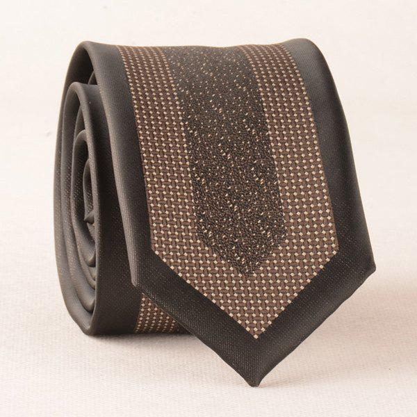 Vintage Geometry Jacquard Polyester Neck Tie - BROWN
