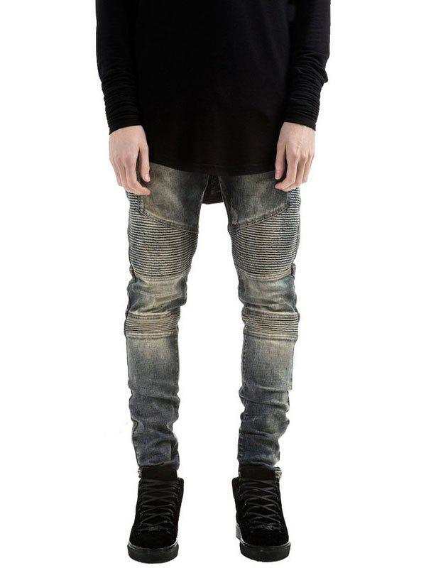 Skinny Zipper Fly Distressed Biker Jeans юбка river woods rl16s c5201 a 000 ny