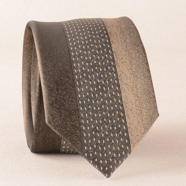 Retro Texture Color Splicing Neck Tie - BROWN