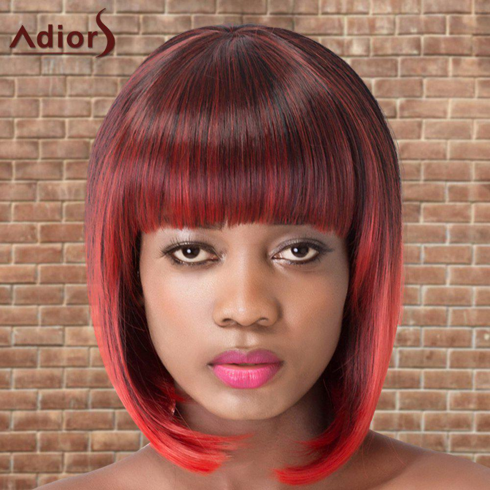 Adiors Short Colormix Straight Bob Cosplay Neat Bang Synthetic Wig фильтр для воды новая вода praktic osmos ou400