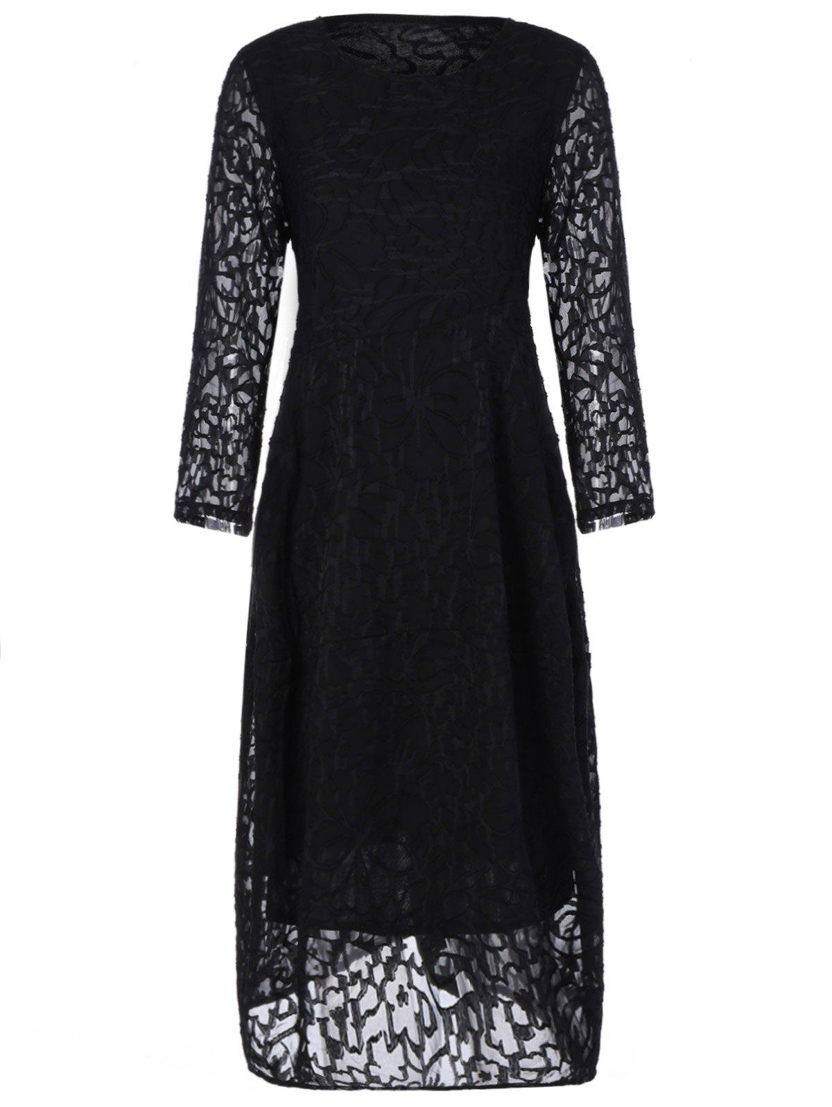 Plus Size Midi Lace Formal Party Dress midi plus size lace dress