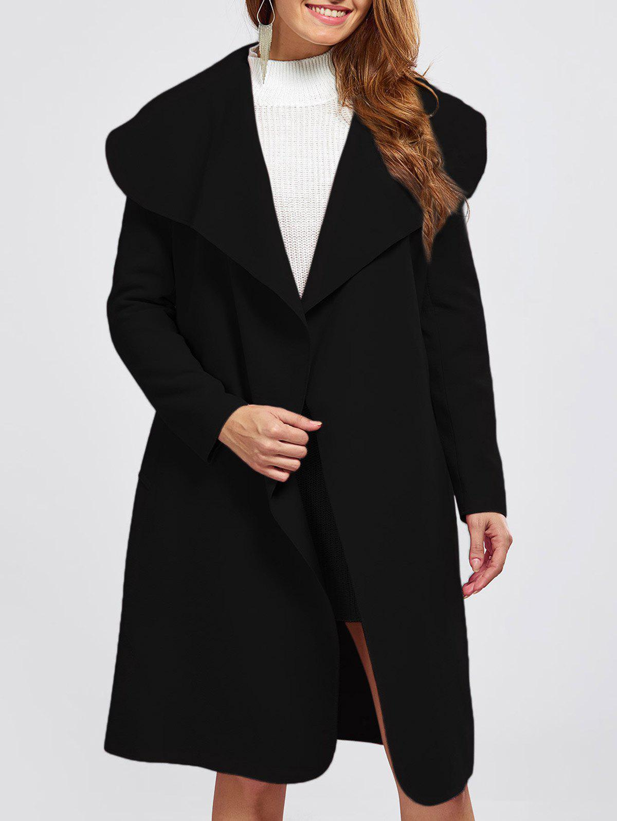 41 Off 2019 Shawl Collar Wool Blend Belted Wrap Coat In