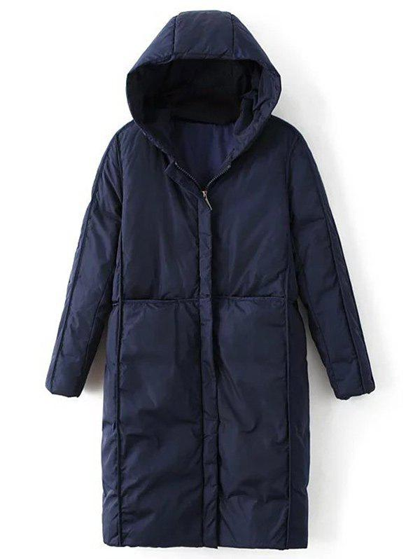 Hooded Long Quilted Jacket christmas long hooded jacket girl 90