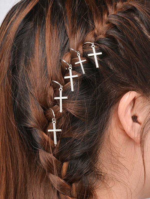 5 PCS Crucifix Hair Accessories - SILVER