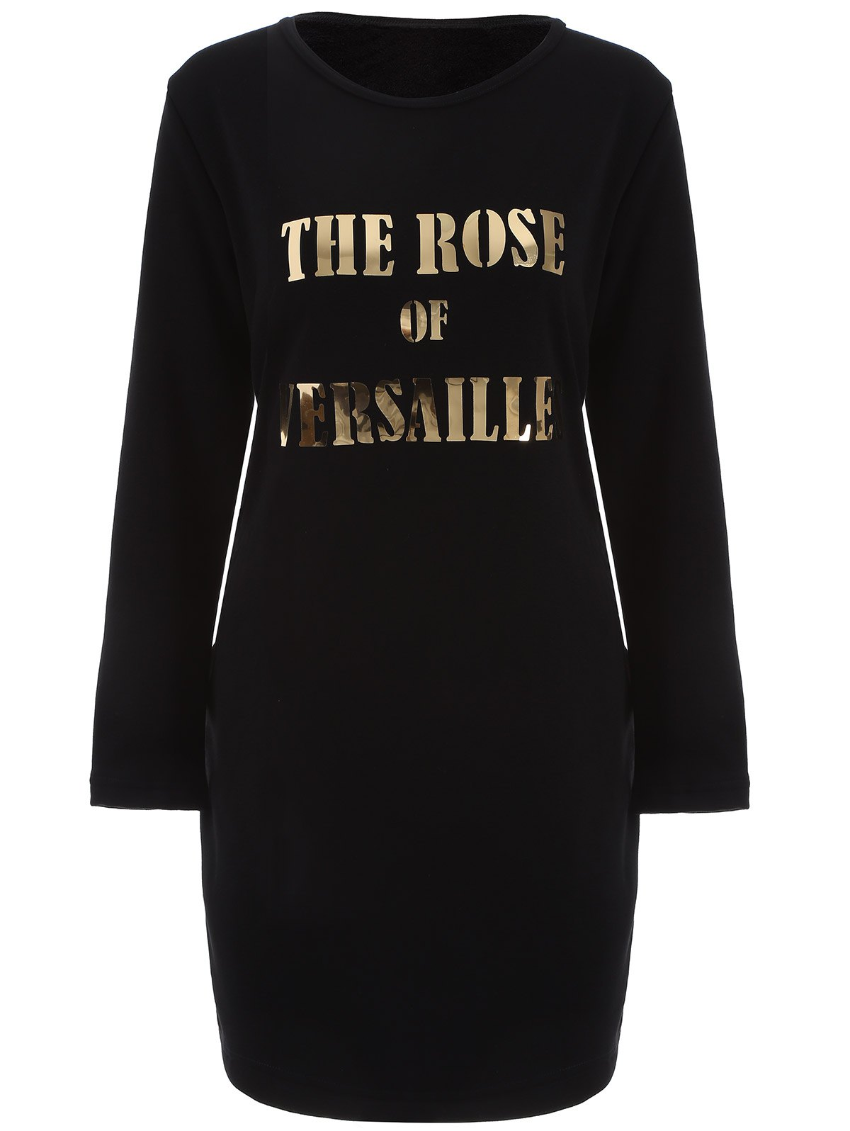 The Rose of Versailles Plus Size DressWomen<br><br><br>Size: 4XL<br>Color: BLACK