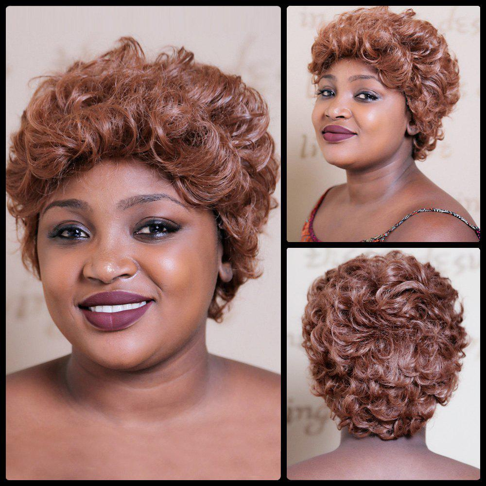 Towheaded Short Curly Synthetic WigHair<br><br><br>Color: COLORMIX