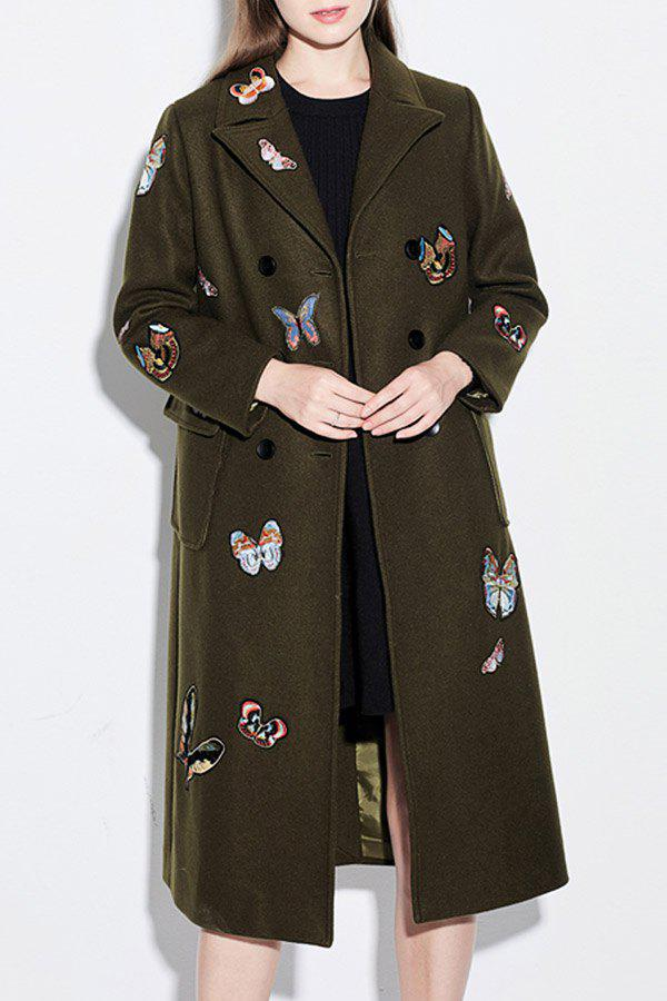 Double Breasted Embroidered Walker Coat от Dresslily.com INT