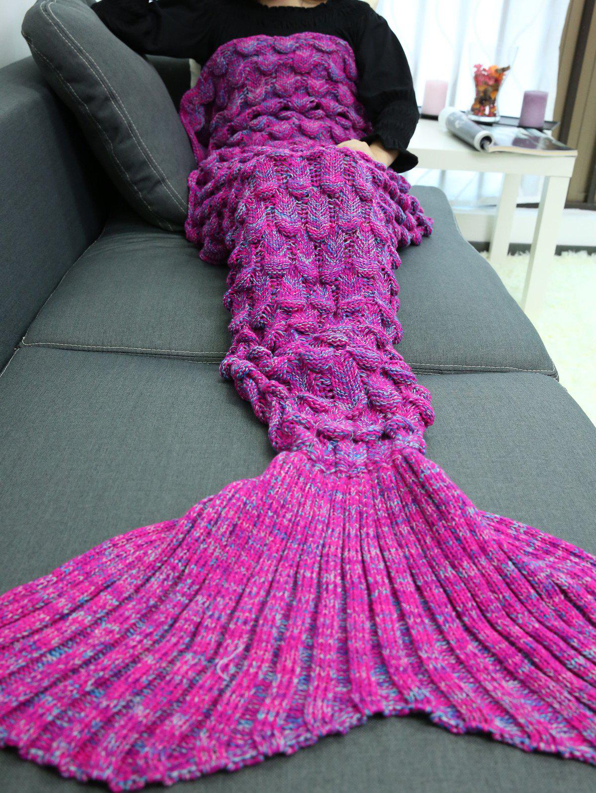 Knitting Warehouse Shipping : Soft knitting fish scales design mermaid tail style