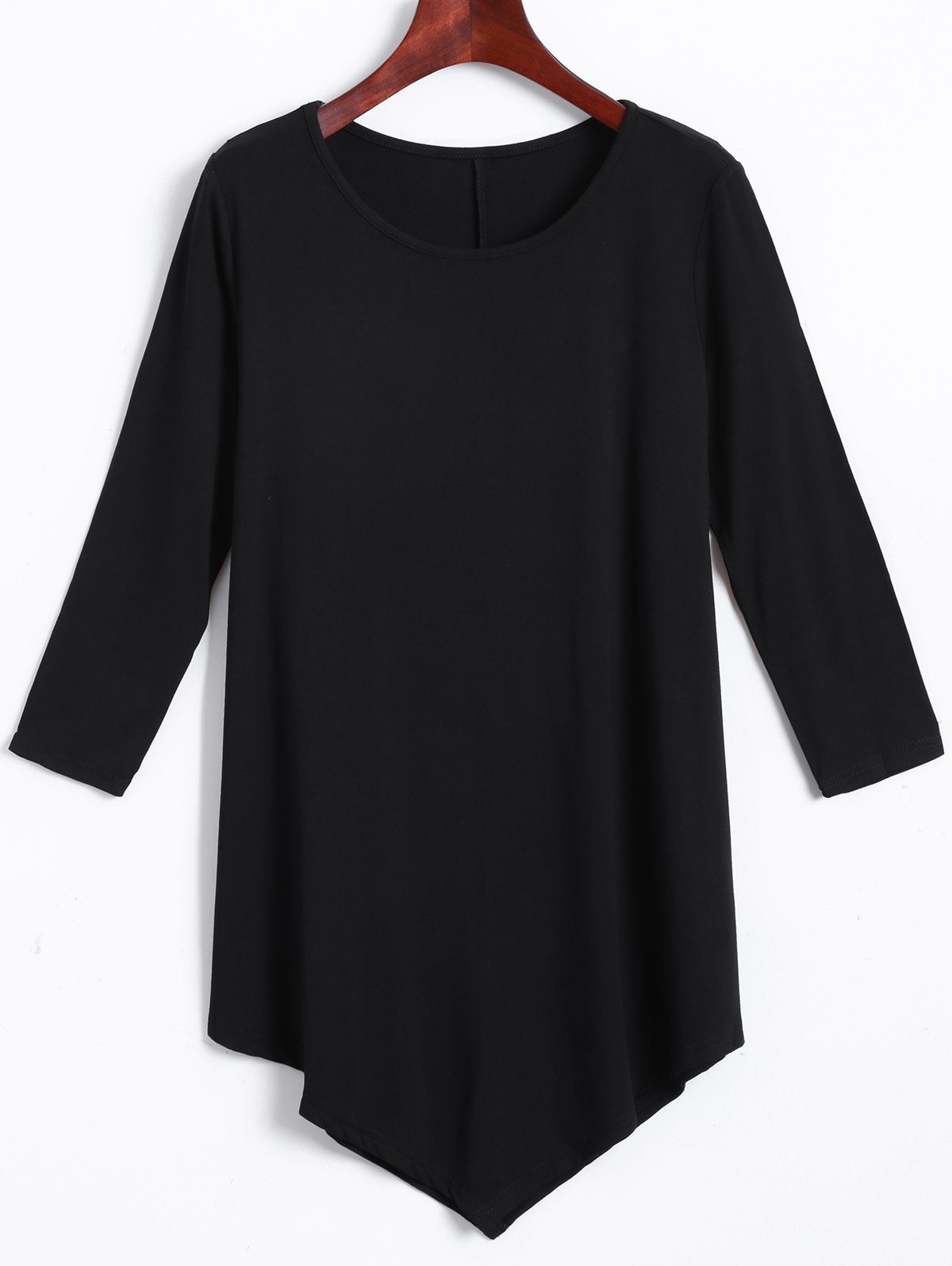 Irregular Loose Long Sleeve T-Shirt - BLACK 2XL