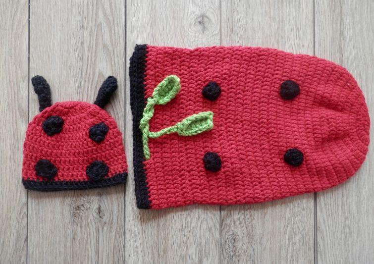 Handmade Crochet Baby Photography Prop Clothes Set - RED M