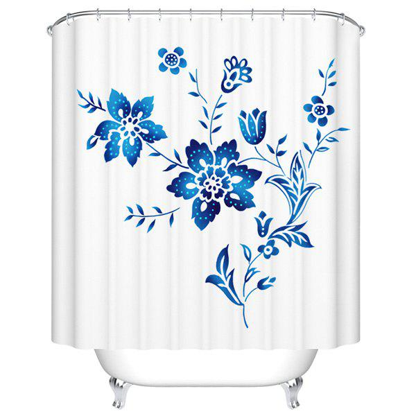 Mildewproof Waterproof Bathroom Flower Shower CurtainHome<br><br><br>Size: M<br>Color: WHITE