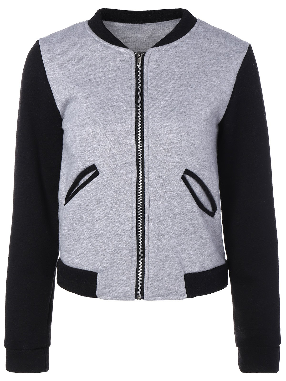 Zip Up Fleece Jacket - GRAY XL