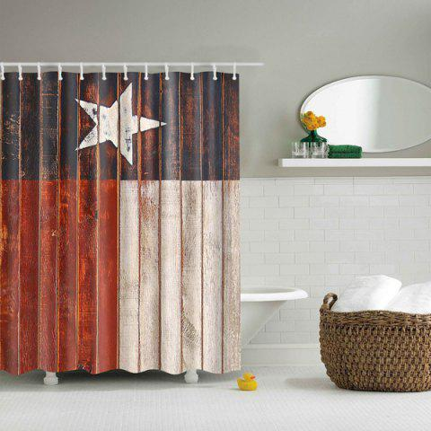 Bathroom Mildewproof Waterproof Color Block Shower Curtain