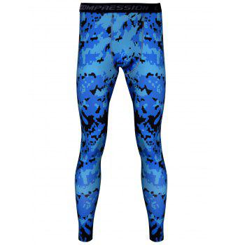 Camouflage Printed Quick-Dry Skintight Gym Pants