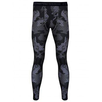 Skintight Plaid Printed Quick-Dry Gym Pants