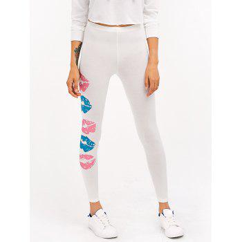 Lip Patterned Yoga Leggings