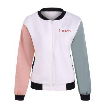 Color Block Girl Graphic Bomber Jacket