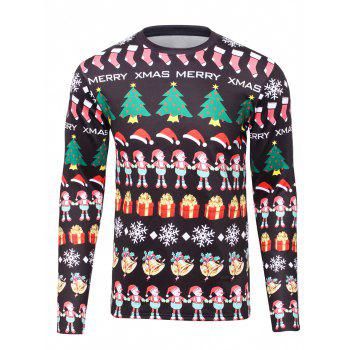 Hooded 3D Christmas Graphic Print Flocking Sweatshirts