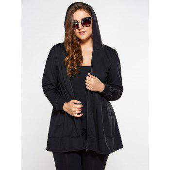 Zip Up Skirted Plus Size Hoodie