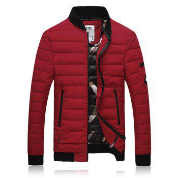 Thicken Stand Collar Zip Up Down Jacket