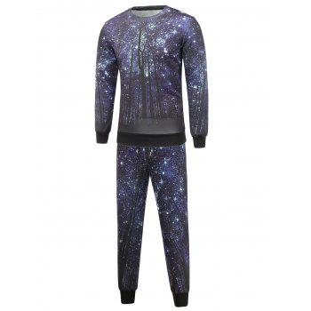 Crew Neck Galaxy Sweatshirt and Jogger Pants Twinset