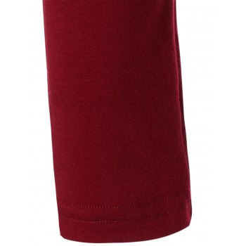 Low Cut Cold Shoulder Tee - RED 3XL