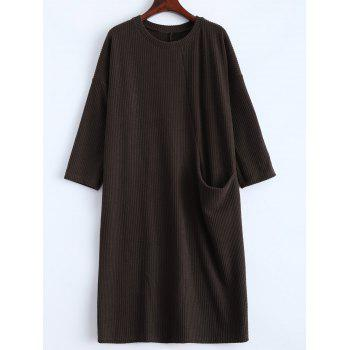 Slouchy Jumper Dress with Pocket