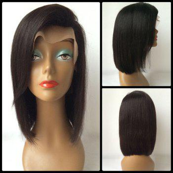 Bob Style Straight Side Parting Lace Front Human Hair Wig