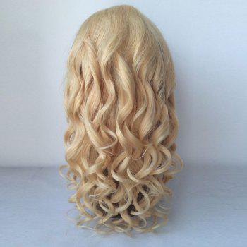 100 Percent Human Hair Fluffy Long Curly Lace Front Wig -  GOLDEN