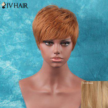 Siv Hair Short  Shaggy Straight Full Bang Human Hair Wig