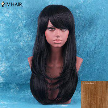 Siv Hair Layered Tail Adduction Long Side Bang Human Hair Wig