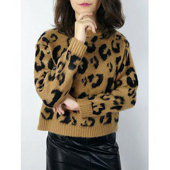 Pullover Leopard Knit Sweater
