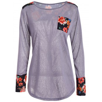 See-Through Floral Insert Knitwear