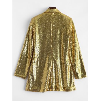 Punk Style Sequined Blazer - S S