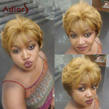 Adiors Short Shaggy Neat Bang Natural Straight Synthetic Wig