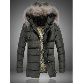 Detachable Furry Hood Plus Size Thicken Down Coat